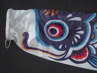 "Koinobori Japanese Carp Wind Sock Blue Koi Nobori Fish Flag Windsock 23"""