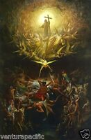 The Triumph of Christianity Over Paganism : Gustave Dore circa 1866  Art Print