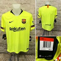 Nike Barcelona FCB Away Stadium Soccer Jersey Volt [918990-703] 2018 Size Large