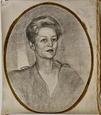 Dunbar Dyson Beck (1903 - 1986)  Portrait study of a lady Drawig on Canvas