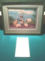 BELLE READING AT FOUNTAIN DISNEY BEAUTY BEAST LTD.ED. SERICEL NEW, CUSTOM FRAMED