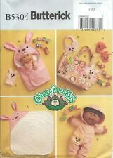 """Butterick 5304 Pattern Cabbage Patch Kids Bath Items for 11"""" & 14"""" Dolls"""