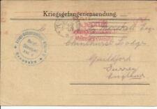 Prisoner Of War -MUNSTER CAMP II(Rennbahn)-28/6/16 Printed Postcard