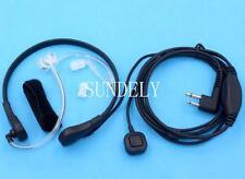 Throat MicPTT Headset/Earpiece Motorola  Walkie Talkie CP040 CP88 2 Pin New