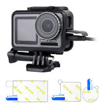 Protective Frame Mount Housing Case + Screen Protector Film for DJI Osmo Action