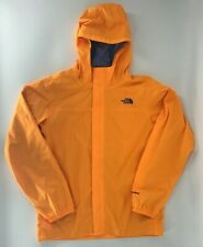 The North Face Boy's Hyvent Hooded Rain Jacket Bright Orange Size XL