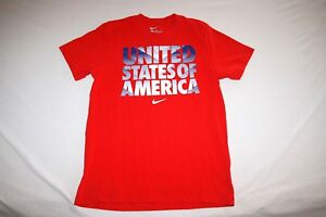 USA Nike Soccer T Shirt Youth L Slim Fit Red
