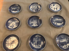 Royal Copenhagen Christmas Plate Lot -9 Plates
