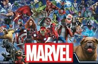 MARVEL COMICS - HEROES COLLAGE POSTER - 22x34 - 17024