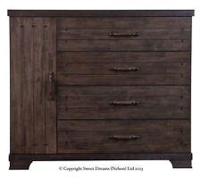 Sweet Dreams Mozart Chopin Gershwin 4 Drawer Solid Wood Chest Brown Cupboard