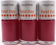 Collection Field Day Peony Nail Varnish Polish Top Coat Cosmetics Matte UK X3