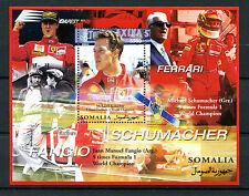 Somalia 2002 MNH Michael Schumacher Ferrari 1v M/S Formula 1 F1 Sports Stamps