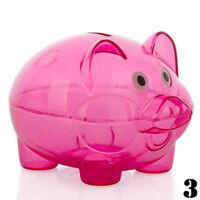 Lovely Plastic Piggy Bank Pig Cash Coin Money Saving Box Children Toys New.
