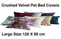 Large Pet Bed Cushion Cover Dog Cat C Velvet Fabric Soft Comfy Wash Zip 120X80cm