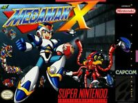MEGA MAN X  SNES Super Nintendo USA NTSC 16bit 46pin (Game Card)
