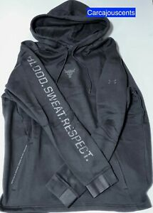 Men's Under Armour Project Rock Hoodie Blood Sweat Respect Size Large