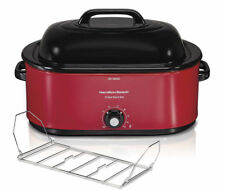 New Kitchen Turkey Roaster Oven 28 lb Electric Slow Cooker 22 Quart Red