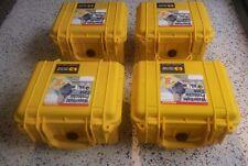 4x  (FOUR) NEW Pelican 1300 Protector Case 1300 Yellow (NO FOAM)