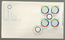 1987 Canada Francophone Summit, Quebec Plate Block FDC. First day Cover