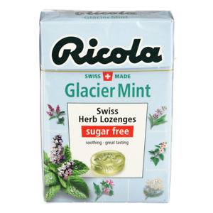 Ricola Glacier Mint Swiss Herb Lozenges Sugar Free Soothing - Refreshing 40g