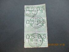 Kangaroo Stamps: Perf OS Block of 6 Used   - Great Item   (n68)