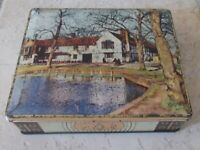 Vintage tin box advertising Biscuits Edward Sharp & Son UK England cookies