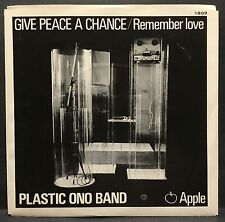 "Plastic Ono Band ""Give Peace a Chance"" - Apple 45 w/PS John Lennon Yoko Ono"