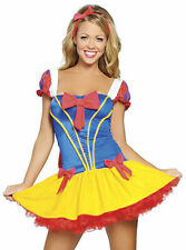 Costume vestito carnevale BIANCANEVE snow white donna abito travestimento DL-485