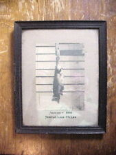 NEWTON LAKE Near Carbondale Pa. 5 3/4 Lbs BASS PHOTO in Oak Frame AUGUST 1904
