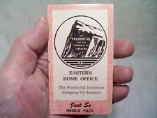 Vtg. Prudential Inurance Co. Sewing Needle Pack Eastern Home Office Advertisment