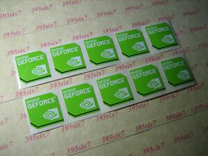 NVIDIA GEFORCE GREEN STICKER ( 17.5mm x 17.5mm ) x 10 PCS