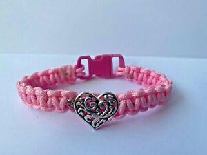 Handmade Bracelet Baby Pink Heart Love Charm Friend Girl Gift Present