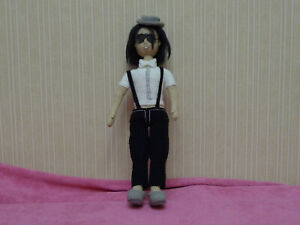 Michael Jackson Handmade Amigurumi Stuffed Toy Knit Crocheted Doll 11.61 INCH