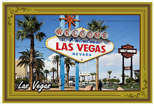 Las Vegas - GRANDE calamita da frigo - NUOVO