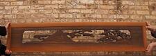 Meji Era Japanese Wood Carved Ranma Transom ( use as Bed Headboard?)