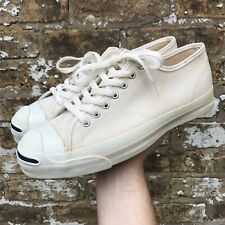 Vintage Made In USA Converse Jack Purcell Size 11 Cream ***Looks New***