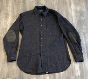 Vintage 70s Pendleton Wool Button Up Shirt Size Large