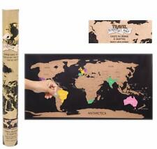 Travellers Scratch Map - Scratch Off Poster Personalized Travel Vacation Atlas