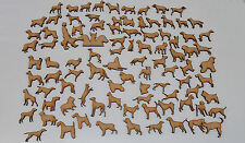 Pack of over 30 different Average 35mm High HQ MDF Dogs 3mm embelishment ~1