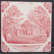 WASHINGTON'S HEADQUARTERS VALLEY FORGE Adams JonRoth Vorhees RARE Vintage Tile