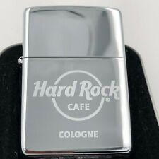 Hard Rock Cafe Zippo Lighter COLOGNE / KÖLN 🇩🇪 - polished Chrome - NEW