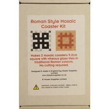 Kit de mosaïque de faire 4 freestyle sous-verres en couleurs romain traditionnel-complet