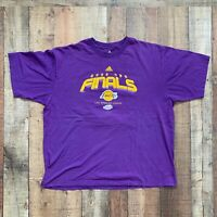Adidas 2008 NBA Finals Los Angeles Lakers Basketball Men's T-Shirt 2XL XXL