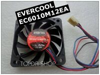 EVERCOOL EC6010M12EA Chassis cooling fan DC12V 0.15A 60*60*10mm 3wire