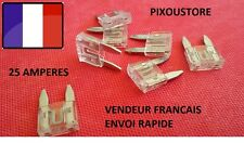 Lot de 5 mini fusibles 25 Amp 25A auto moto scooter automobile voiture 16x11mm