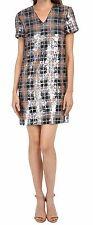 Kate Spade New York Blaze a Trail Sequin Plaid Shift Dress Pumice 10 Nwt $598