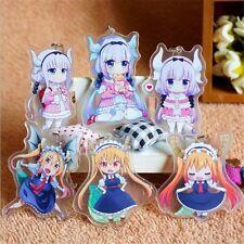 6pcs Miss Kobayashi's Dragon Maid Keychain Tooru Kamui Kanna Keyring Charm Set