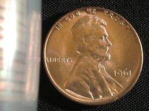 1961-P Philadelphia Mint Lincoln Memorial Cent BU