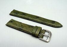 RRFG Orig KAUFMANN Leder Armband STRAUSS grün leather green 18mm TOP unbenutzt
