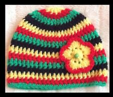 Crocheted Striped Baby Caps & Hats